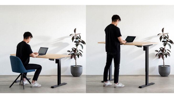 【192通信】背の高い人でも大丈夫!テレワークにもってこいの高さを変えられる電動昇降脚のテーブル